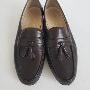 Bally Mens Morgan Tassel Brown Leather Shoes 9.5